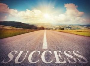 44612269 - road that says success in the asphalt